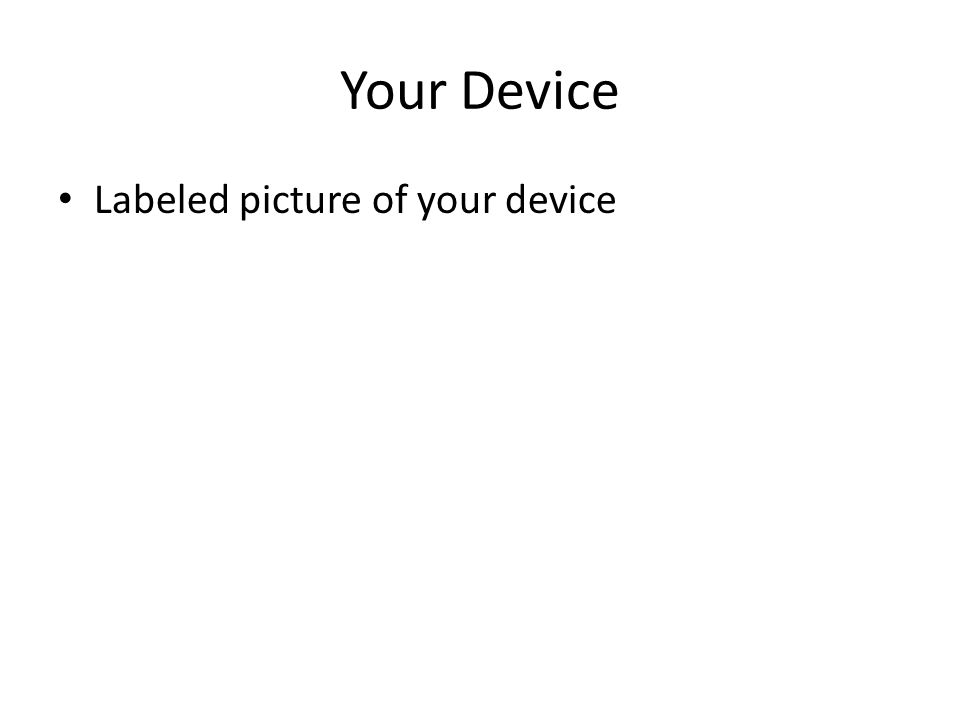 Your Device Labeled picture of your device