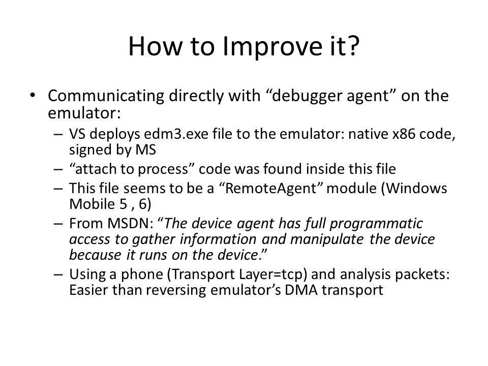 How to Improve it.