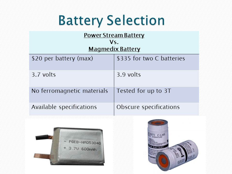 Power Stream Battery Vs.