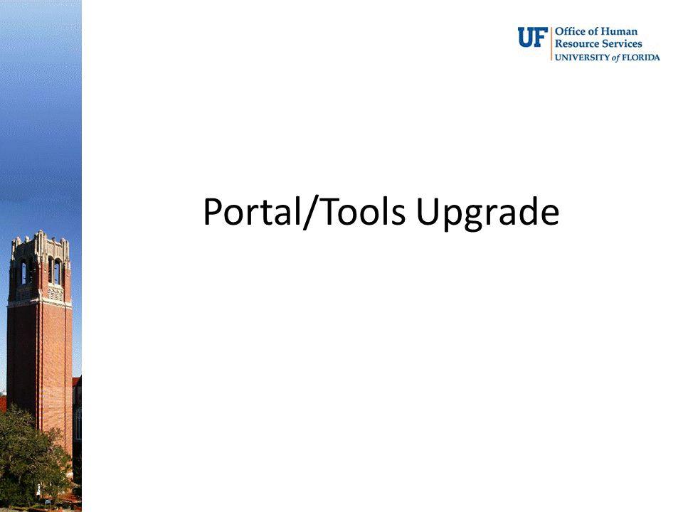 Portal/Tools Upgrade