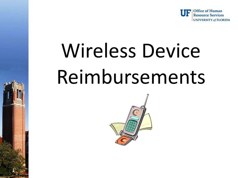 Wireless Device Reimbursements