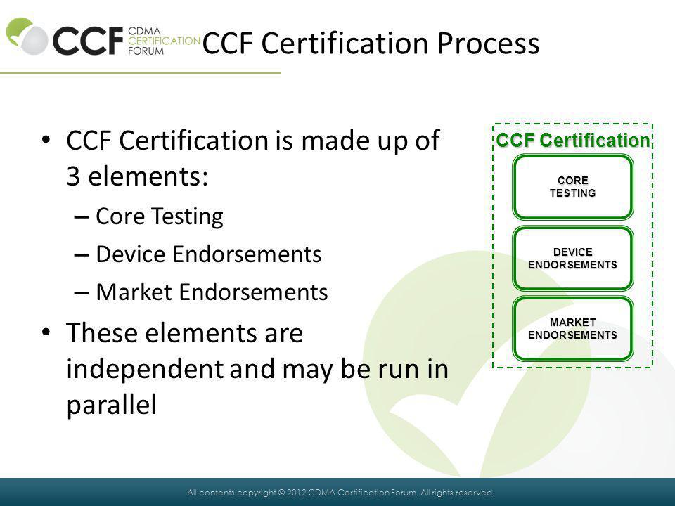 All contents copyright © 2012 CDMA Certification Forum.