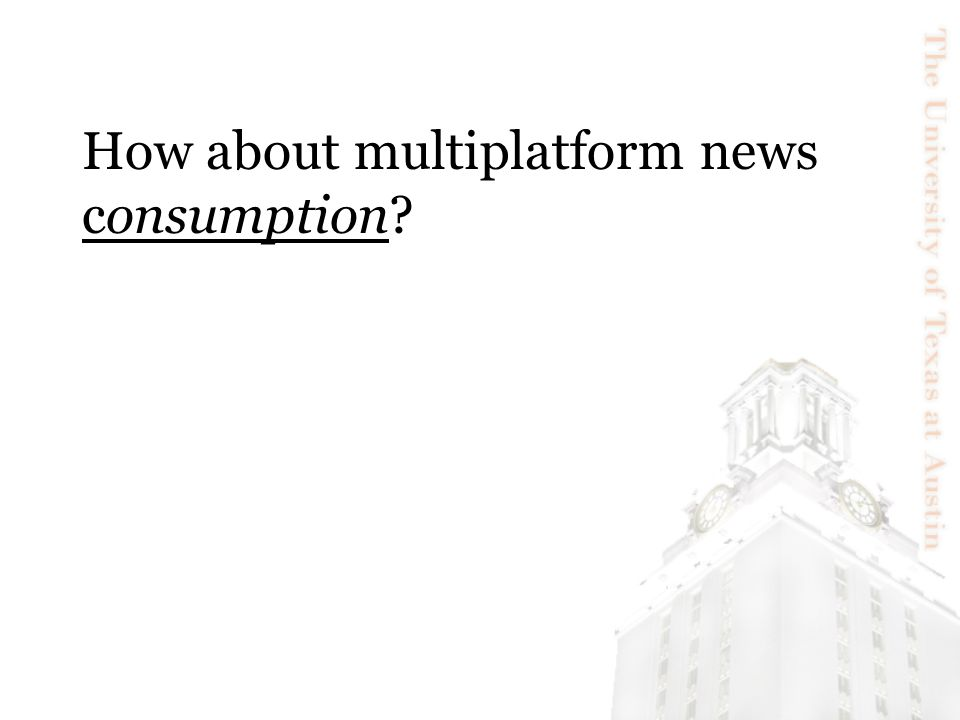 How about multiplatform news consumption?