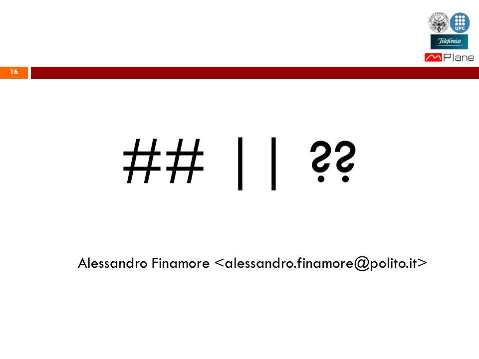 16 ## || Alessandro Finamore