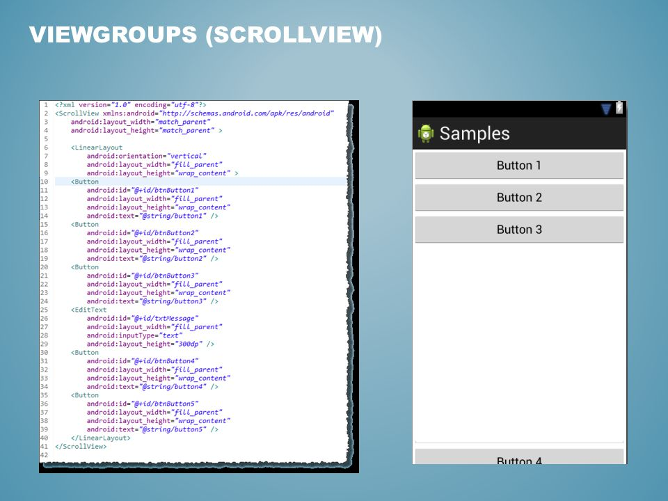 VIEWGROUPS (SCROLLVIEW)