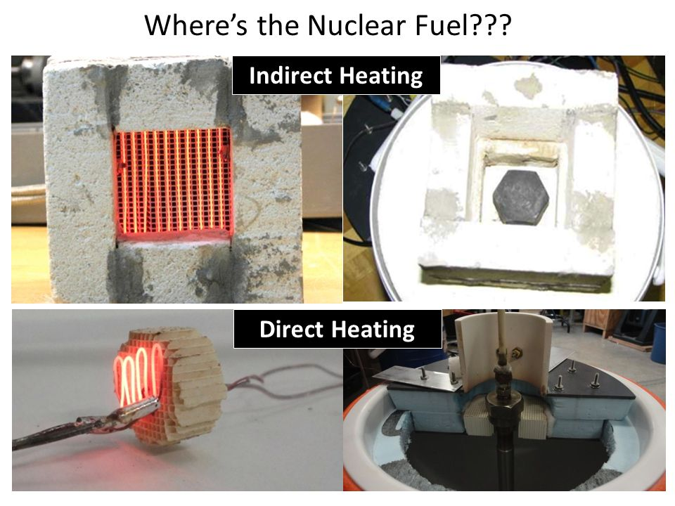 Wheres the Nuclear Fuel??? Direct Heating Indirect Heating