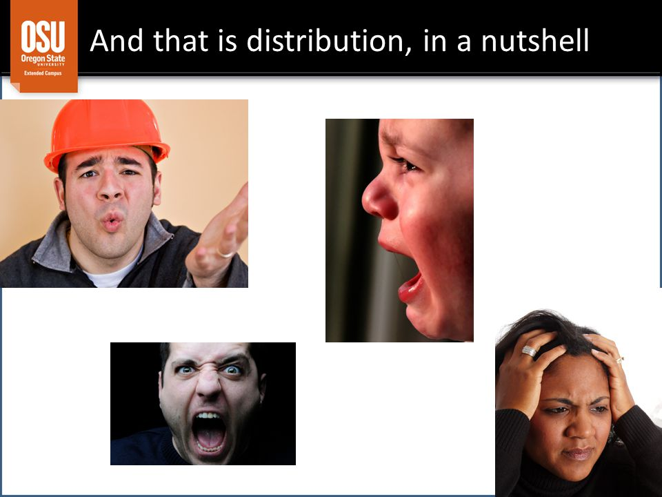 And that is distribution, in a nutshell