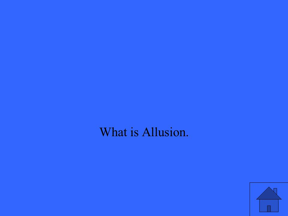 What is Allusion.