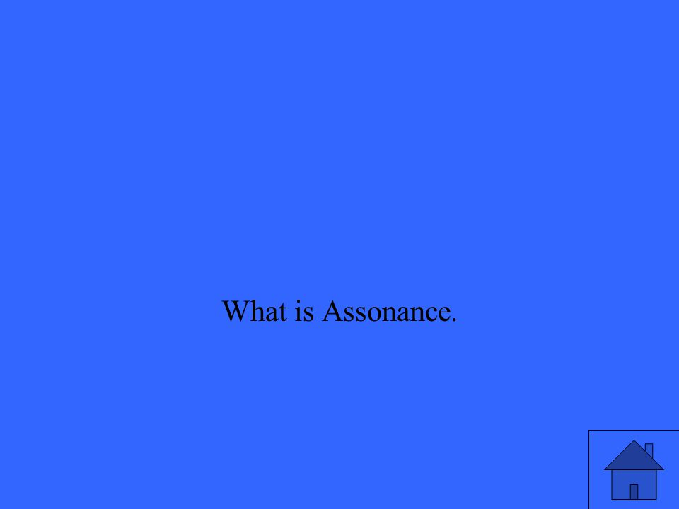 What is Assonance.