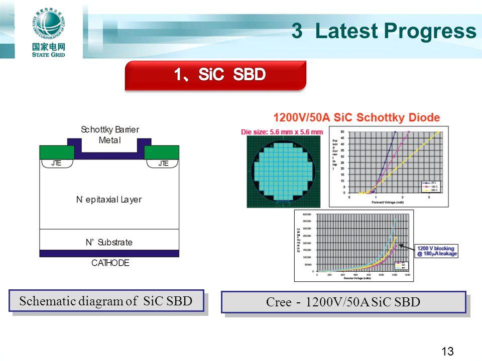 3 Latest Progress Cree 1200V/50A SiC SBD Schematic diagram of SiC SBD 13