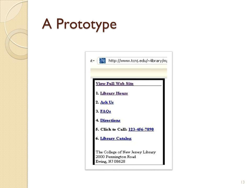 A Prototype 13