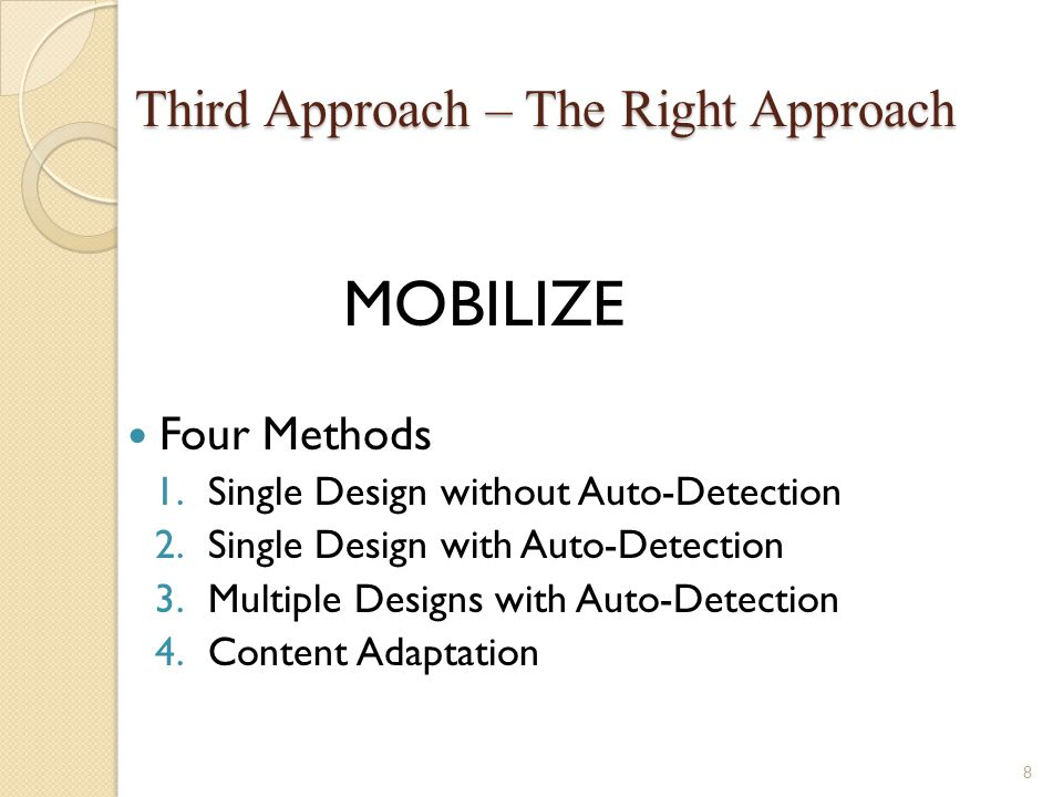 Mobile Web Design Guideline Keep it simple Your mobile web should serve users as maximum as possible.