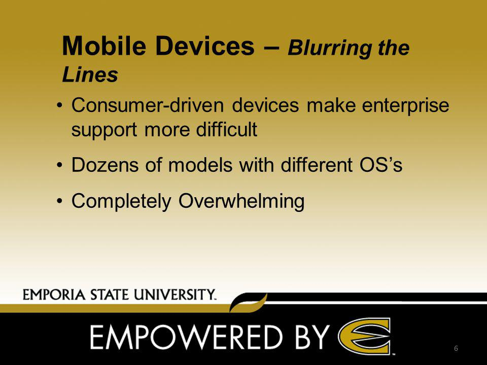 Mobile Support Strategy Mobile Access to Primary Systems/ Services Building Support Structure Around Most Popular Mobile OS Mobile Device Guidelines Framework to Fit New Devices (Template) Make Information Available to guide 7