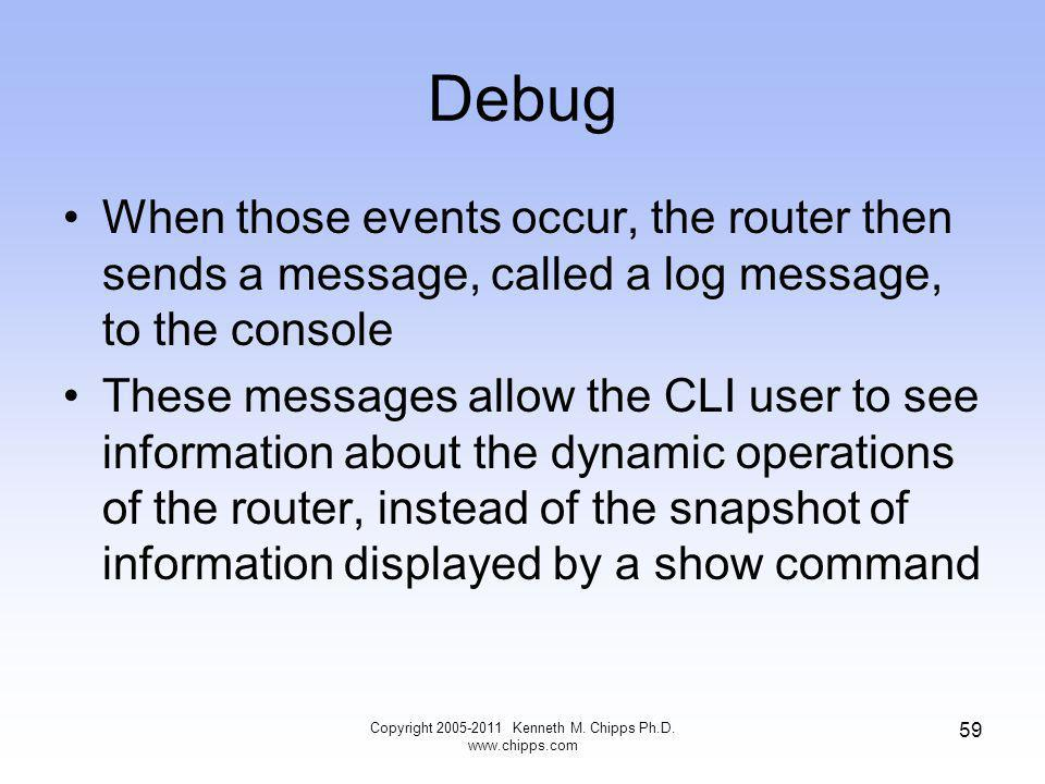 Debug Copyright Kenneth M. Chipps Ph.D.