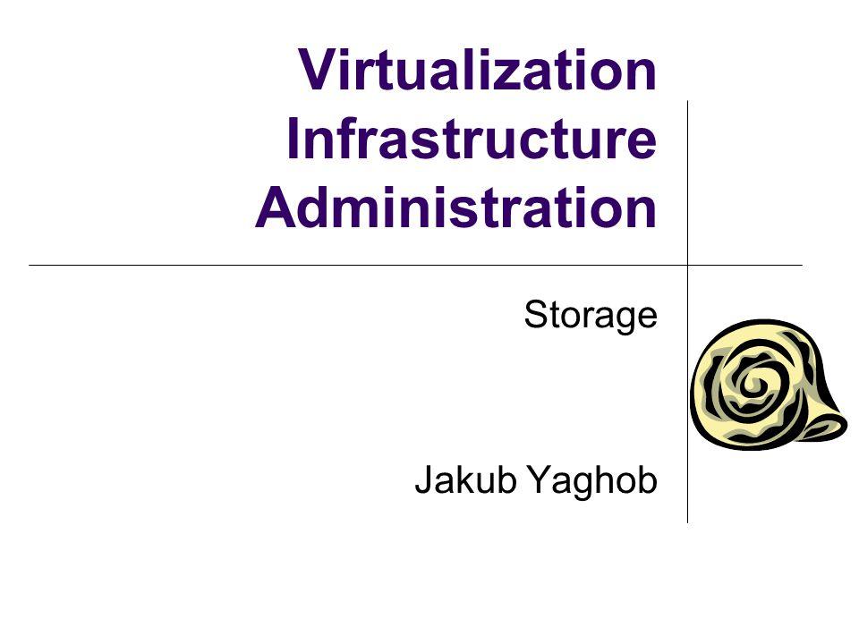 Virtualization Infrastructure Administration Storage Jakub Yaghob