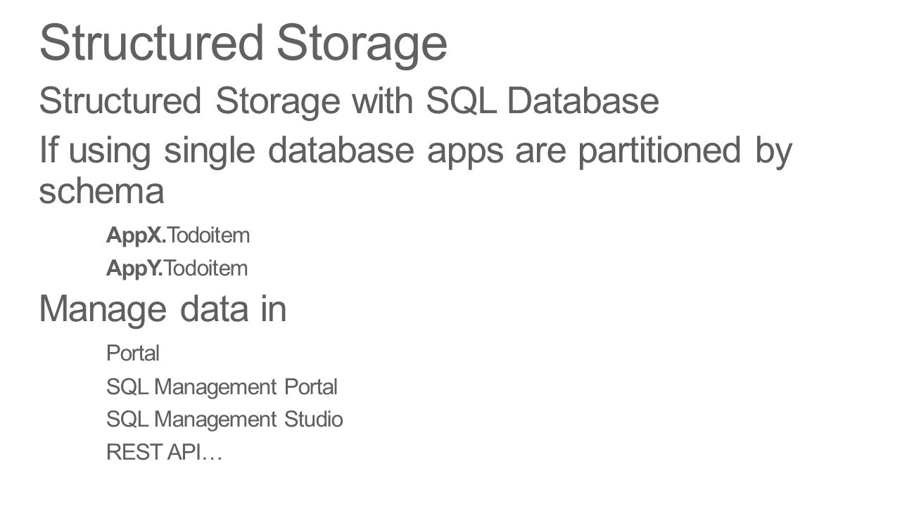 Structured Storage