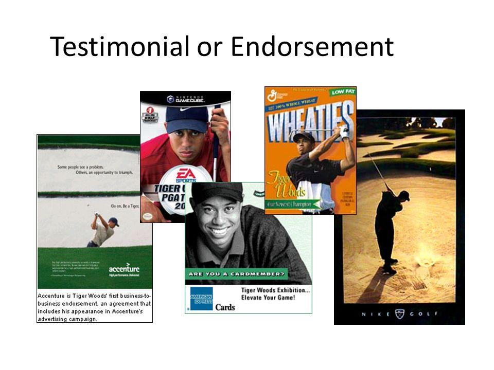 Testimonial or Endorsement