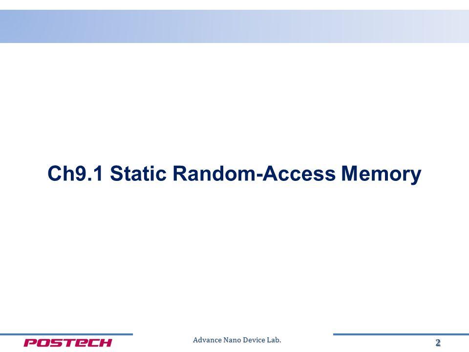 2 Ch9.1 Static Random-Access Memory
