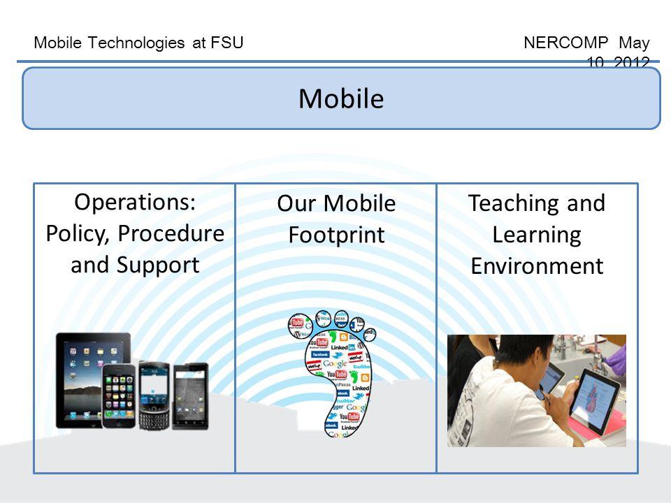 Mobile Technologies at FSU NERCOMP May 10, 2012 FSU Goes Mobile