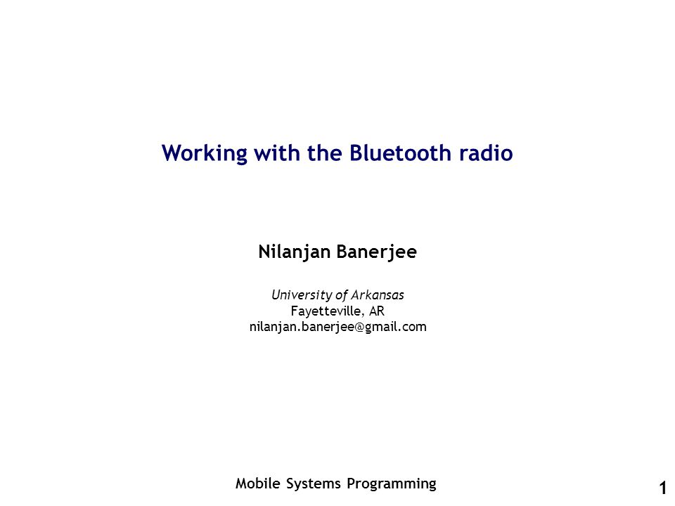 How does the Bluetooth protocol work.