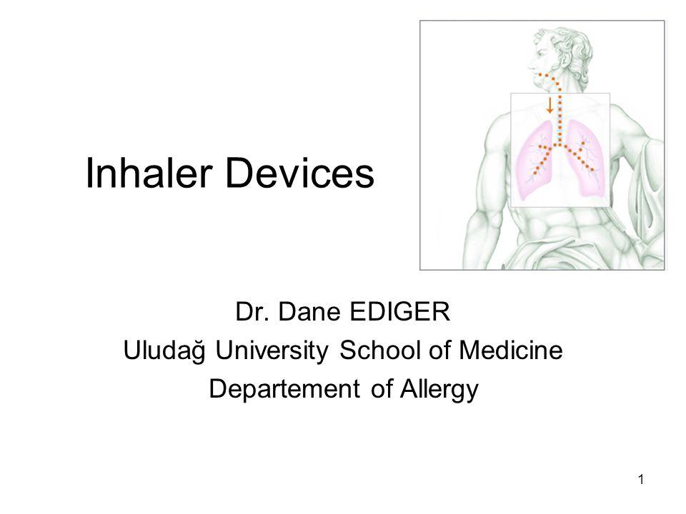 2 Inhalation Devices Aim To make aerosol from the drugs solution or solid particles 1-Metered dose inhaler 2-Dry powder inhaler 3-Nebulizer