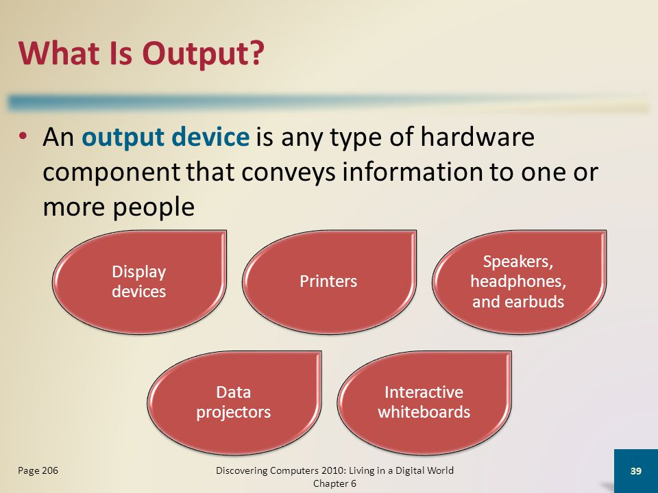 What Is Output.