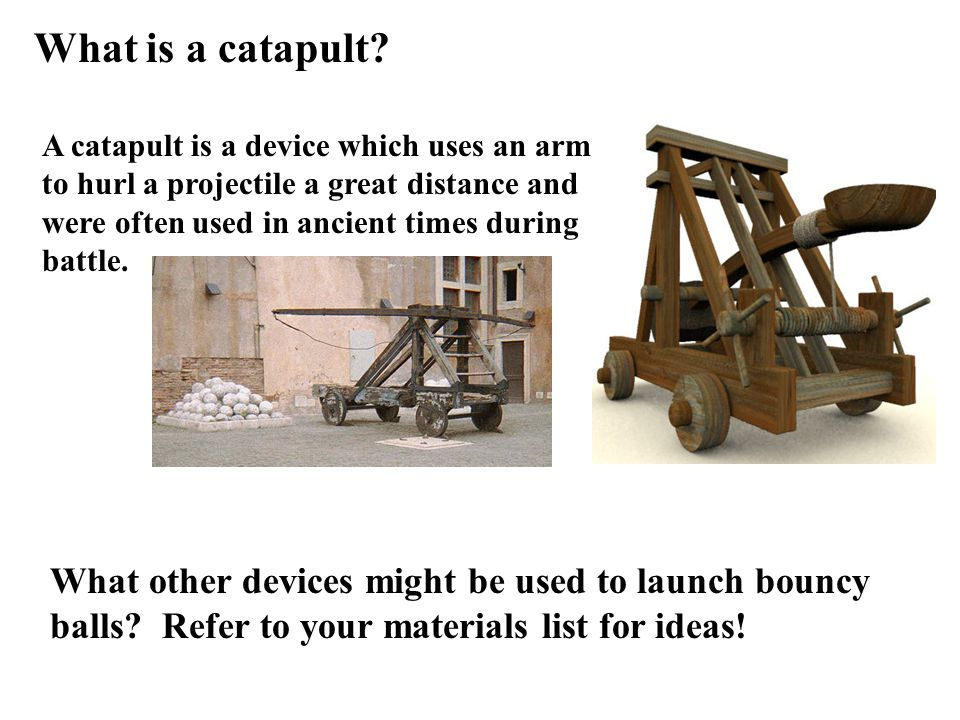 What is a catapult.