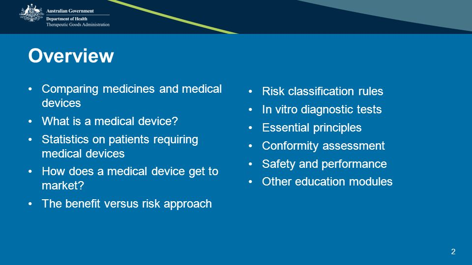 Essential principles that govern devices Chemical, physical and biological properties Infection and microbial contamination Construction and environmental properties Medical devices with a measuring function Protection against radiation Medical devices connected to or equipped with an energy source Information to be provided with medical devices Clinical evidence Principles about design and construction Principle only applicable to IVDs 13 See the following slide for an example