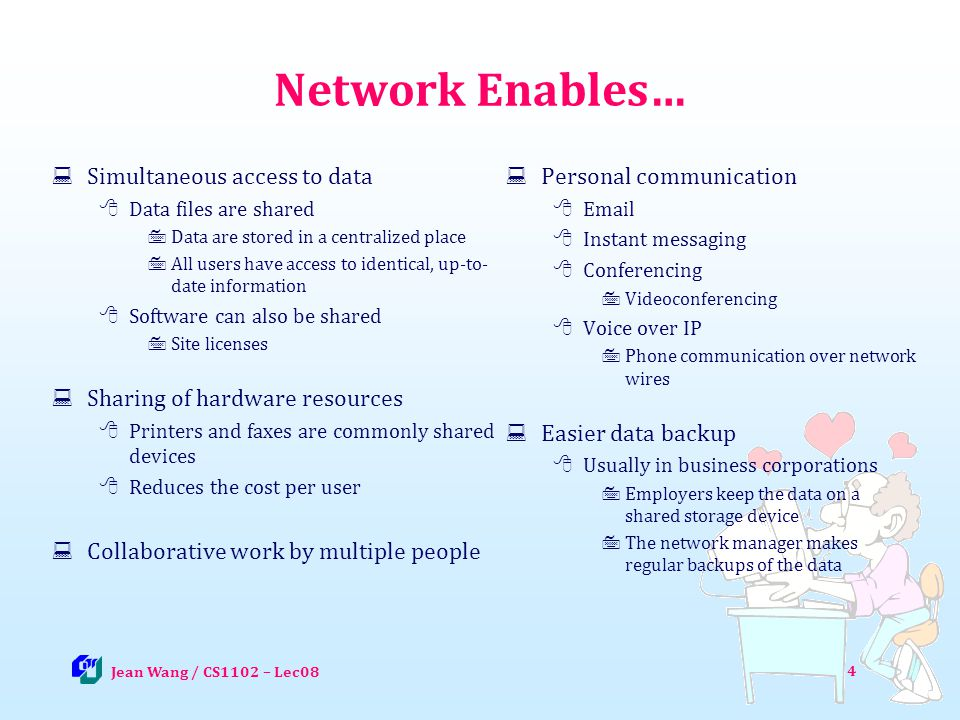 35 For you to explore after class Lec08-Q1: Could this network (with one central server in the middle) be used for peer-to-peer communication and explain your reason.