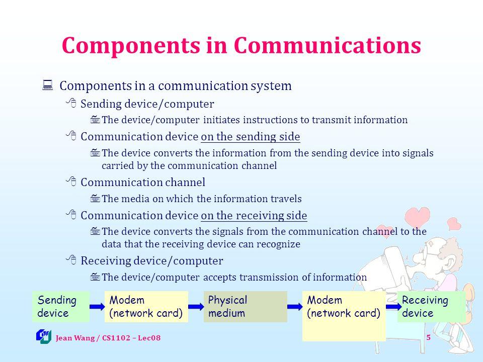 Transmission Rates 16 Jean Wang / CS1102 – Lec08