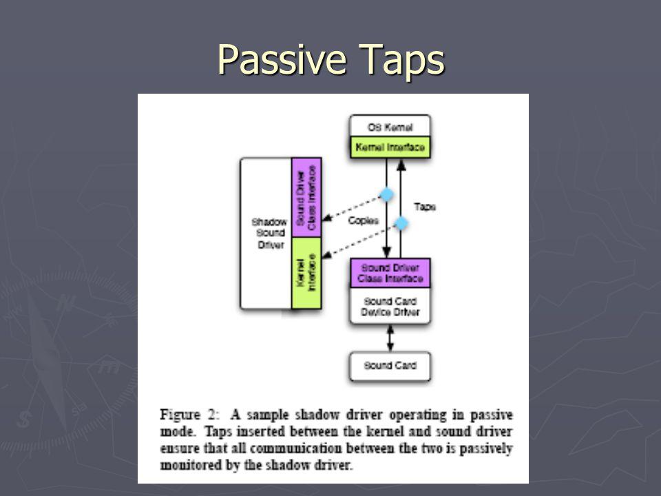 Passive Taps