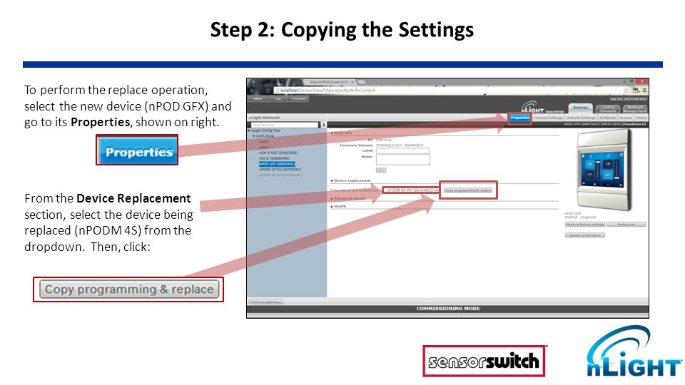 Note that after replace, all scenes copy over to new device.