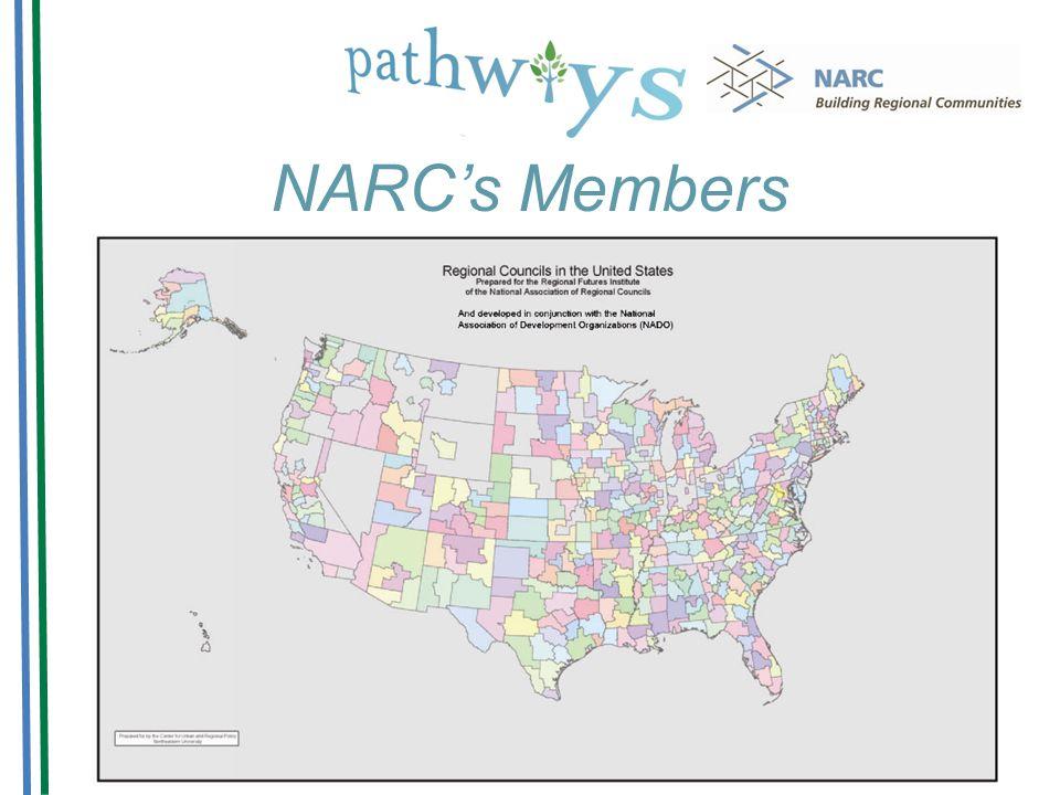 NARCs Members NARCs Members are: Regional Councils Metropolitan Planning Organizations Rural Planning Organizations Economic Development Districts Wha