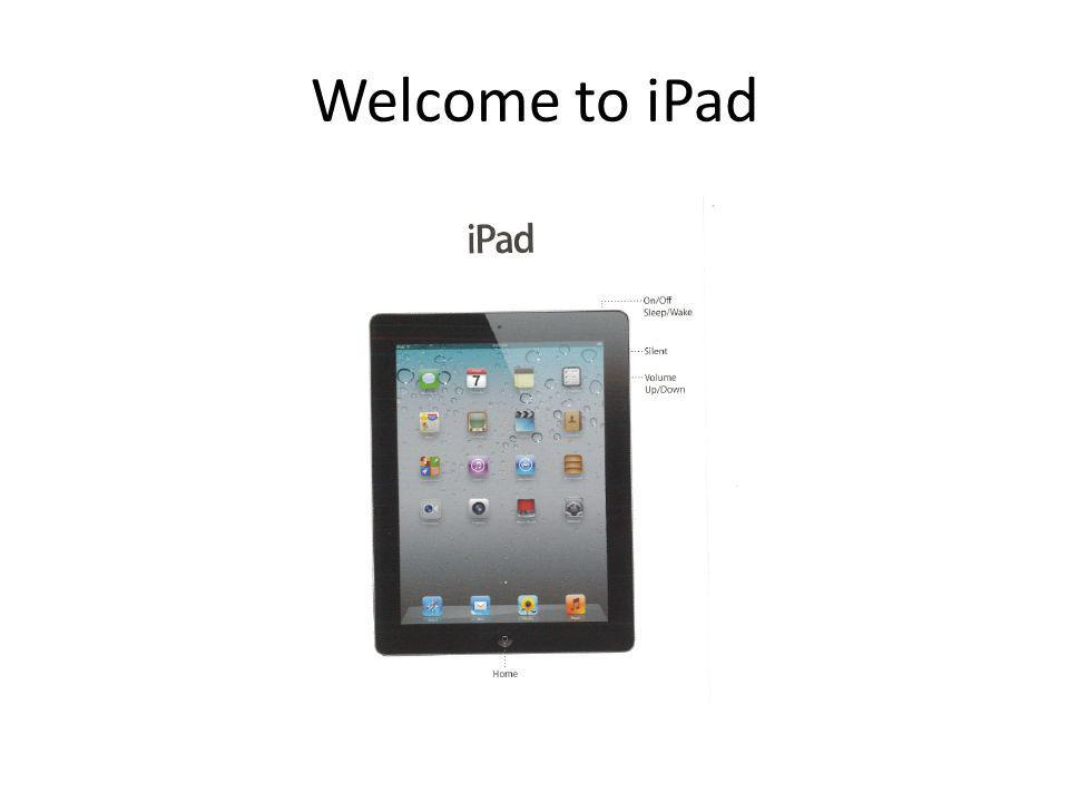 Welcome to iPad