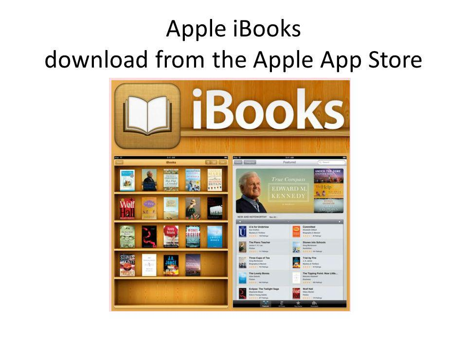 Apple iBooks download from the Apple App Store