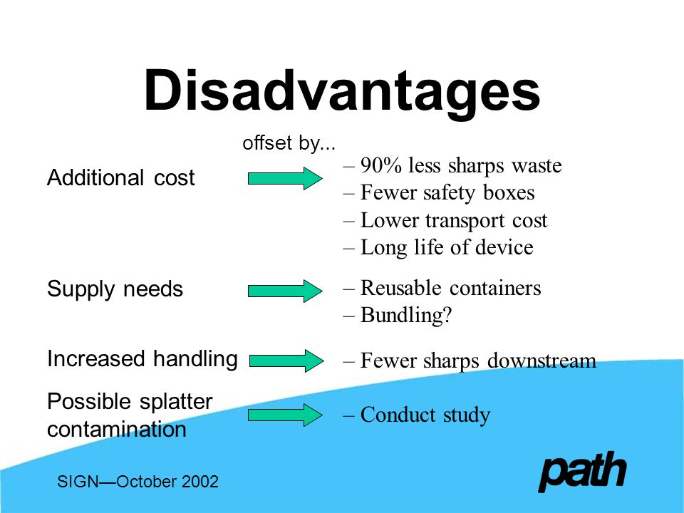 Disadvantages offset by...