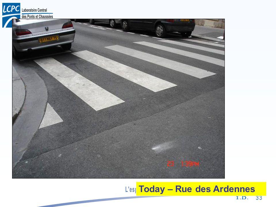 Y.B. 33 Today – Rue des Ardennes