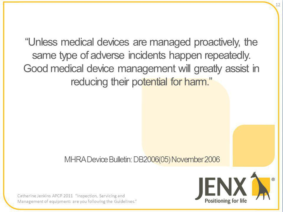 Unless medical devices are managed proactively, the same type of adverse incidents happen repeatedly.