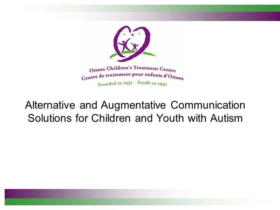 What type of AAC system is the most appropriate for an autistic child.