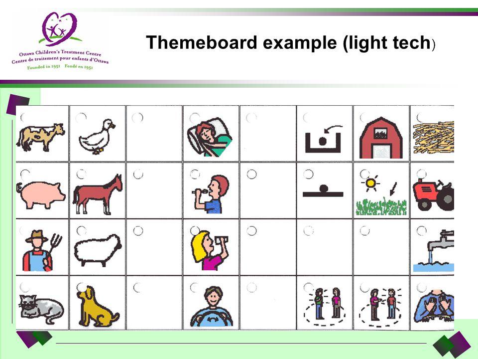 Themeboard example (light tech )