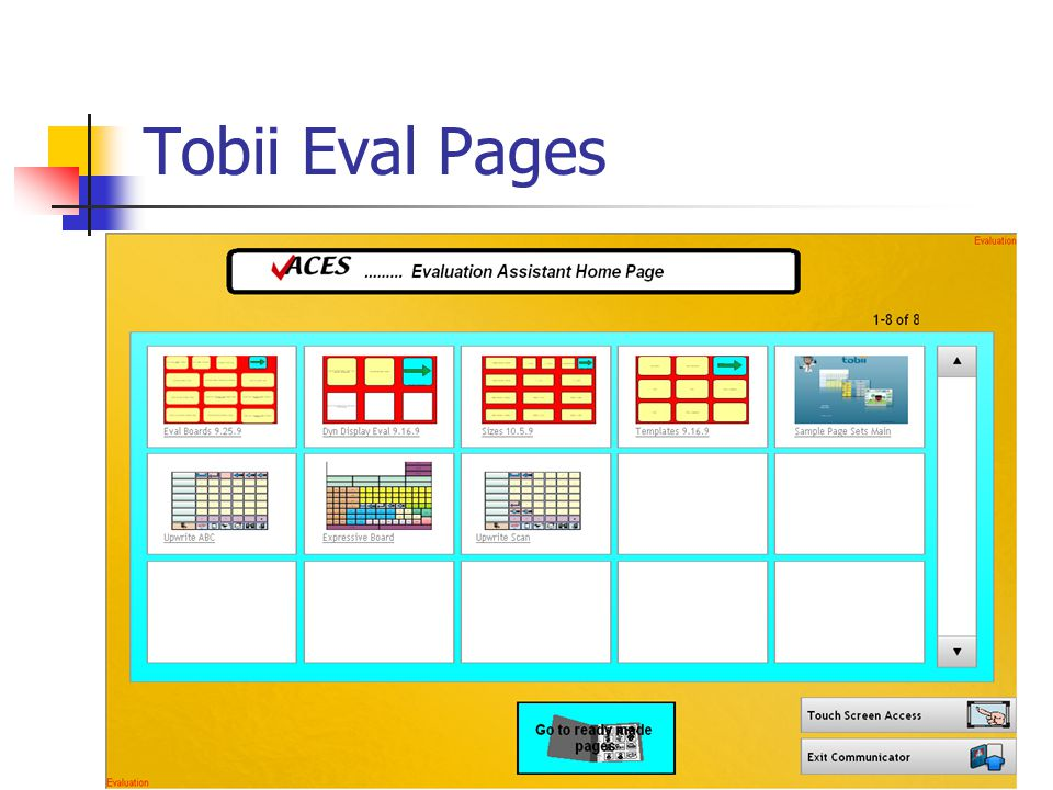 Tobii Eval Pages