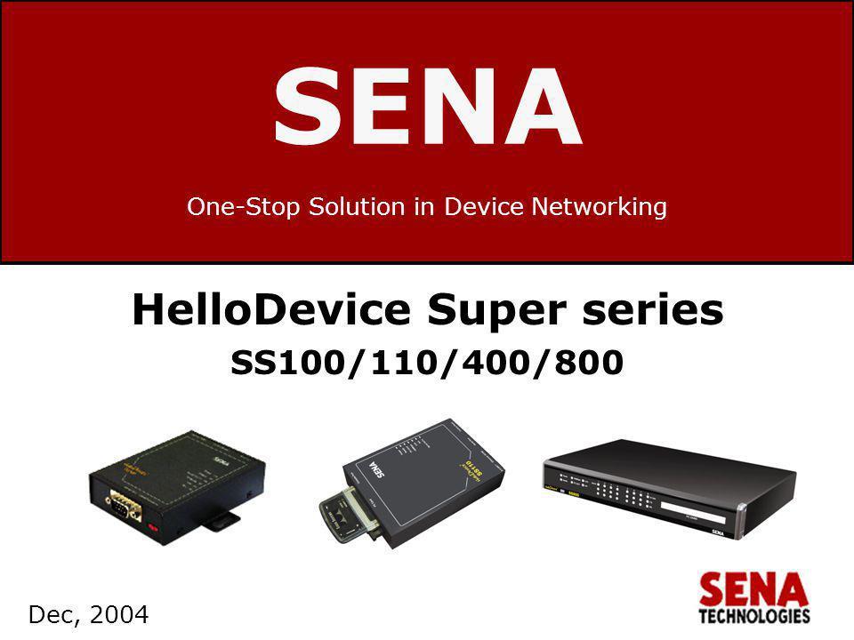 www.sena.com 12 Configuration Access the SS web interface –Choose Serial port --> Configuration --> Port # --> Remote host configuration