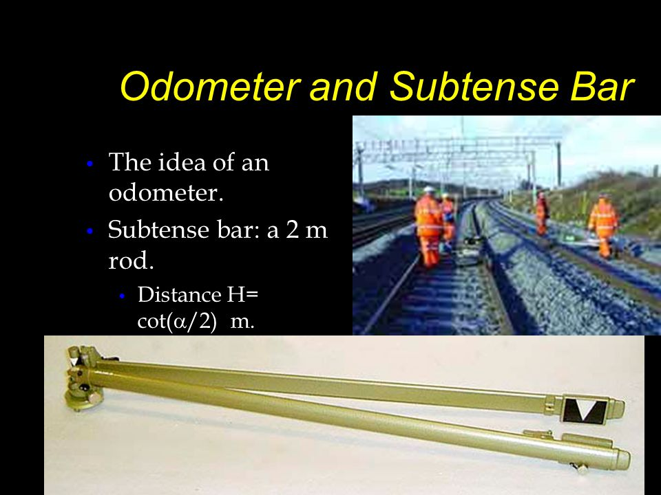 –Subtense Bar –Distance H = cot( /2) m. Aiming Telescope
