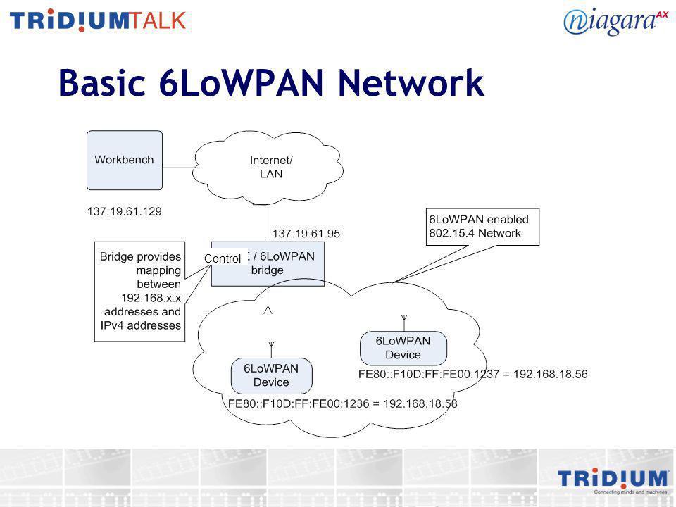 Basic 6LoWPAN Network Control