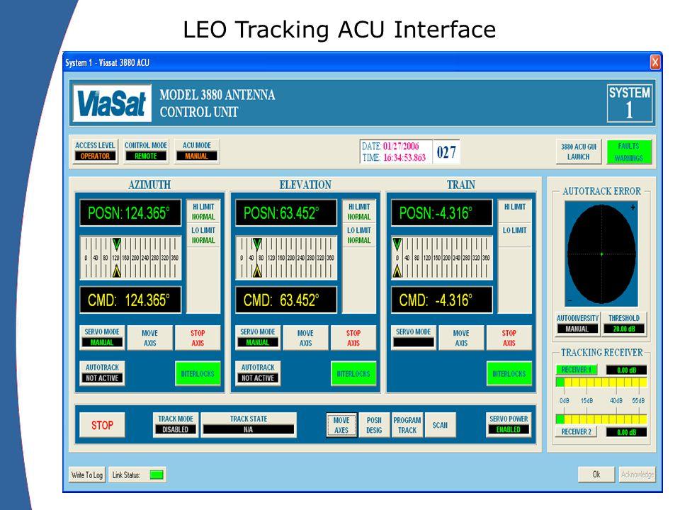 LEO Tracking ACU Interface