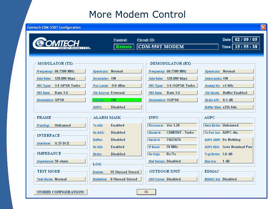 More Modem Control