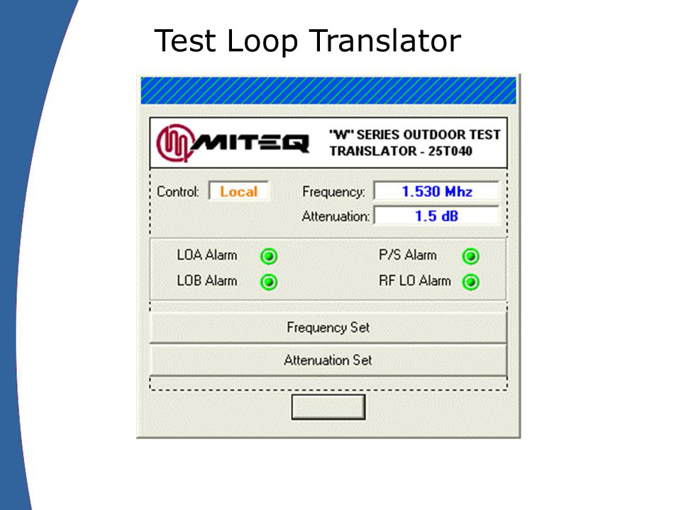 Test Loop Translator