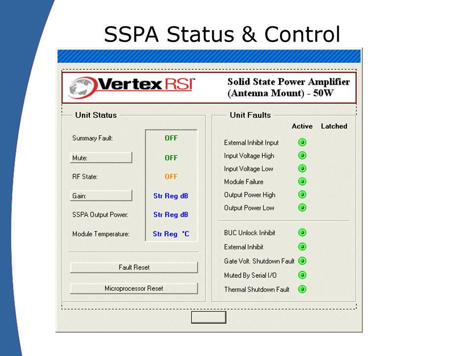SSPA Status & Control