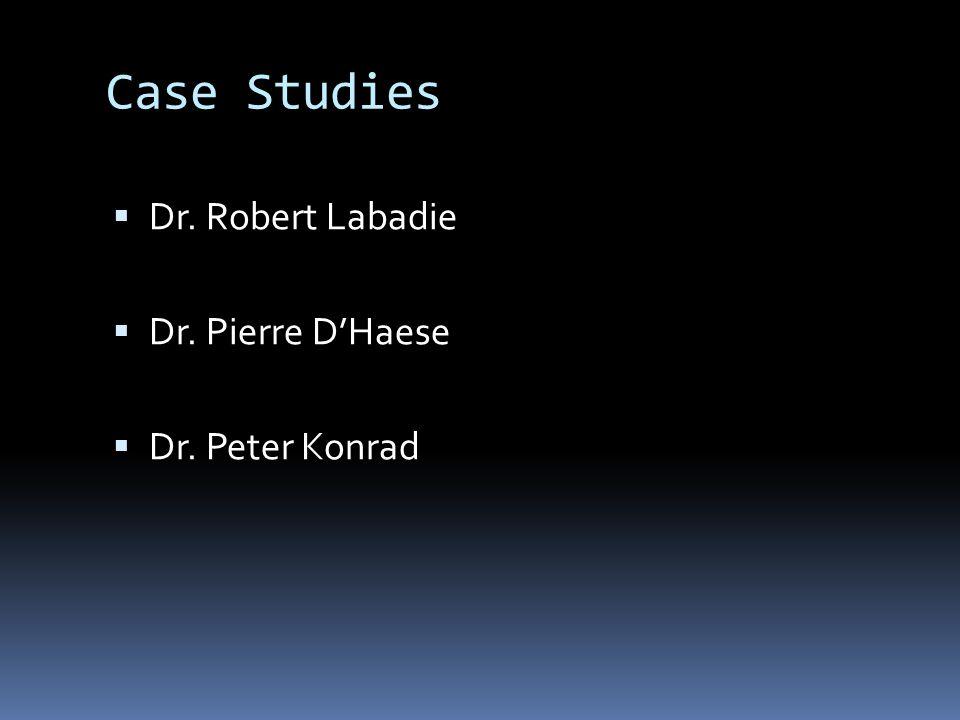 Case Studies Dr. Robert Labadie Dr. Pierre DHaese Dr. Peter Konrad