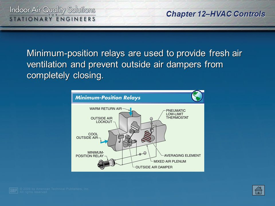 Chapter 12–HVAC Controls Switching relays are used to change airflow from one circuit to another.